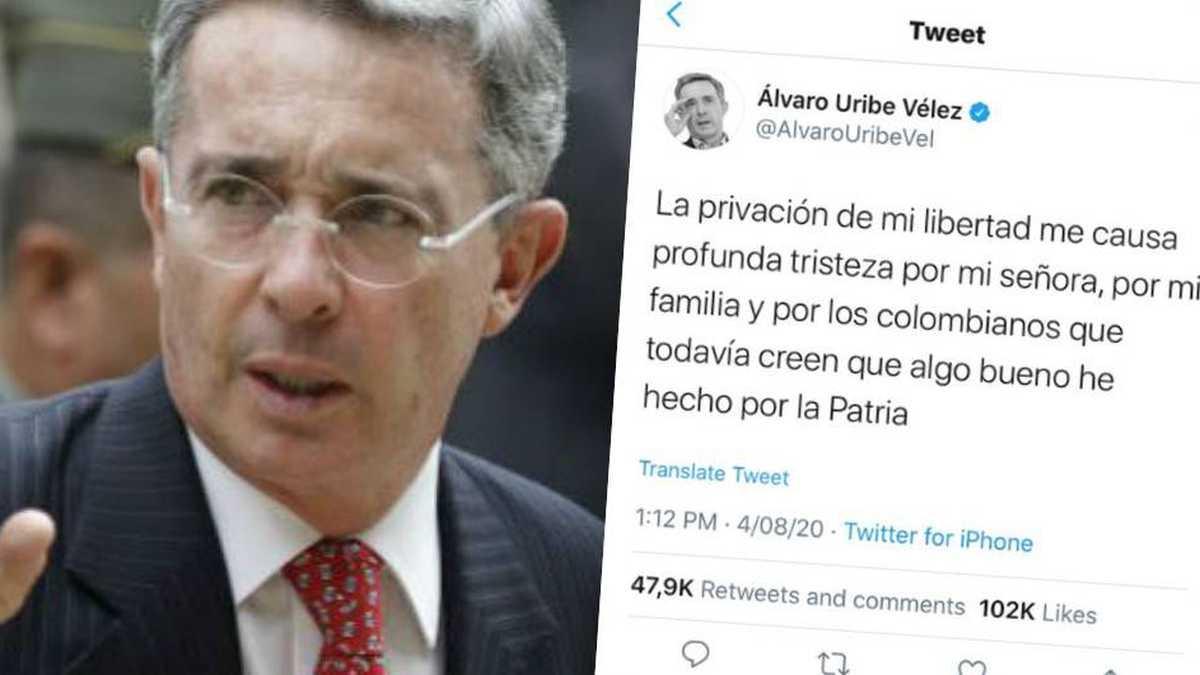 ¿Álvaro Uribe trinó antes de ser notificado por la Corte de su detención?