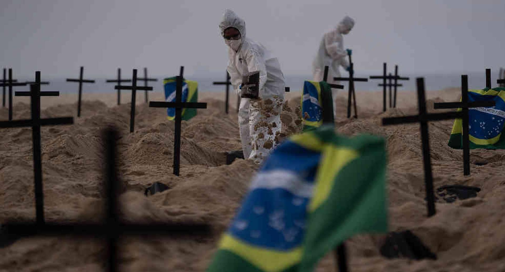 Tumbas simbólicas Copacabana Brasil