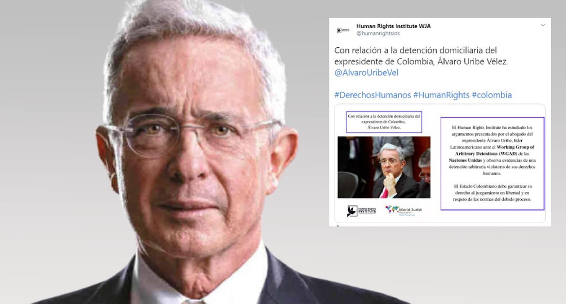 """HRI cree que """"detención de Álvaro Uribe fue arbitraria y viola sus derechos humanos"""""""