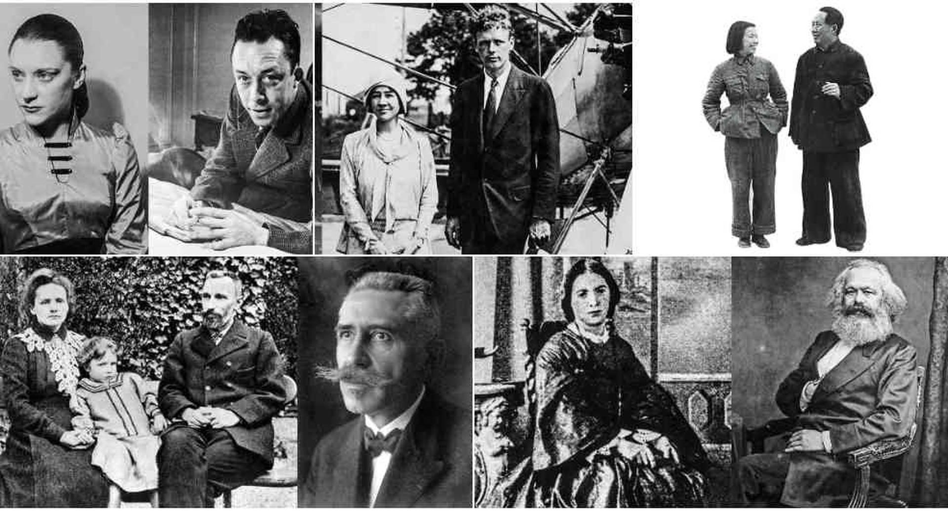 Entre las historias que Daniel Samper Pizano escribió en su libro 'Insólitas parejas' están: Albert Camus y María Casares, Marie Curie y Paul Langevin, Karl Marx y Jenny de Westfalia, Mao Tse-Tung y Jian Qing.