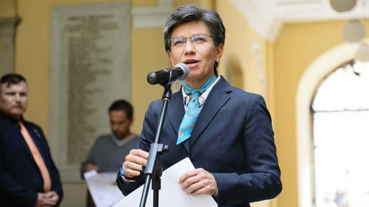 Claudia López en el Palacio Liévano.