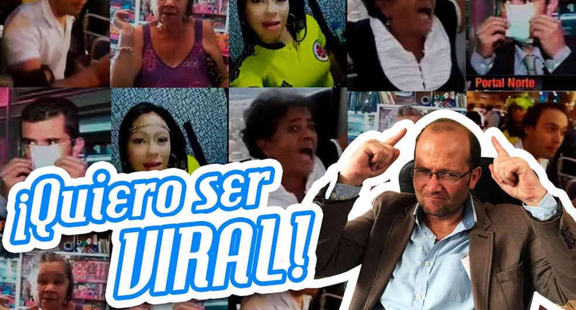 El periodista invitó a su canal de youtube a los protagonistas de los videos más virales de Colombia.