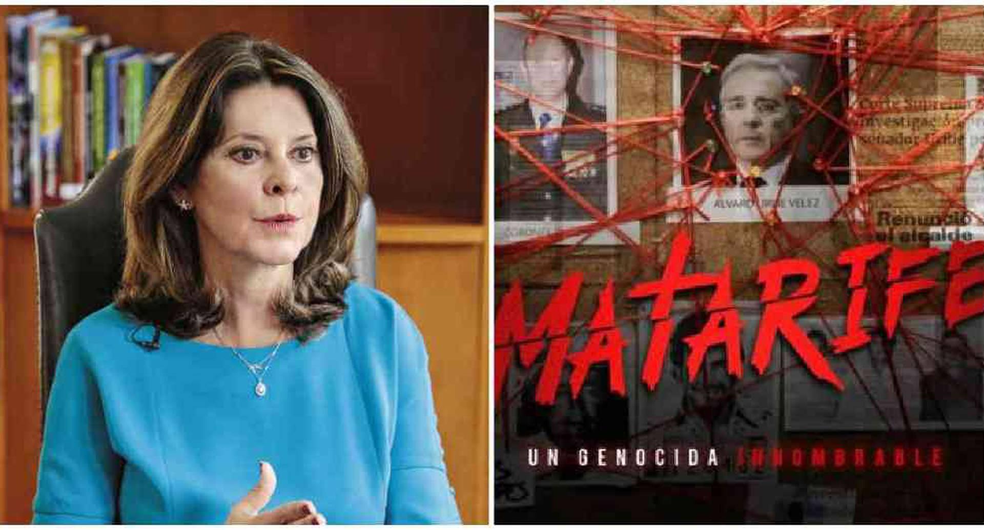 La vicepresidenta se refirió a la serie Matarife.