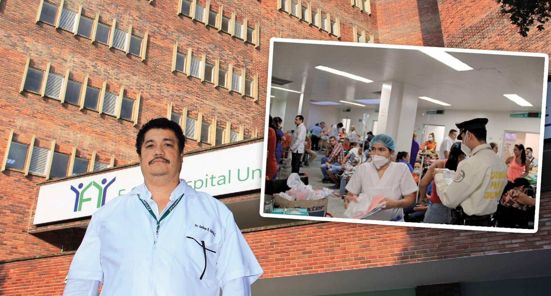 Al jefe de urgencias del Hospital Erasmo Meoz, Andrés Galvis, el virus del chikungunya le duplicó los pacientes. Cientos de personas se agolpan en las clínicas de Cúcuta por cuenta de esta enfermedad.