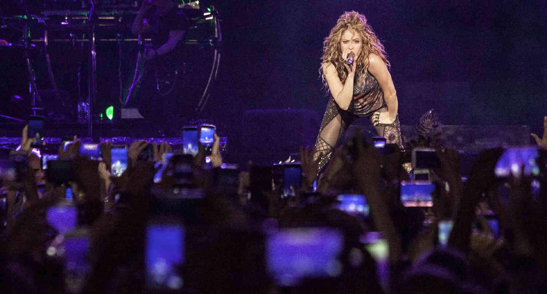Después de siete años, Shakira volvió a cantar en la capital del país.  Foto: Diana Rey Melo