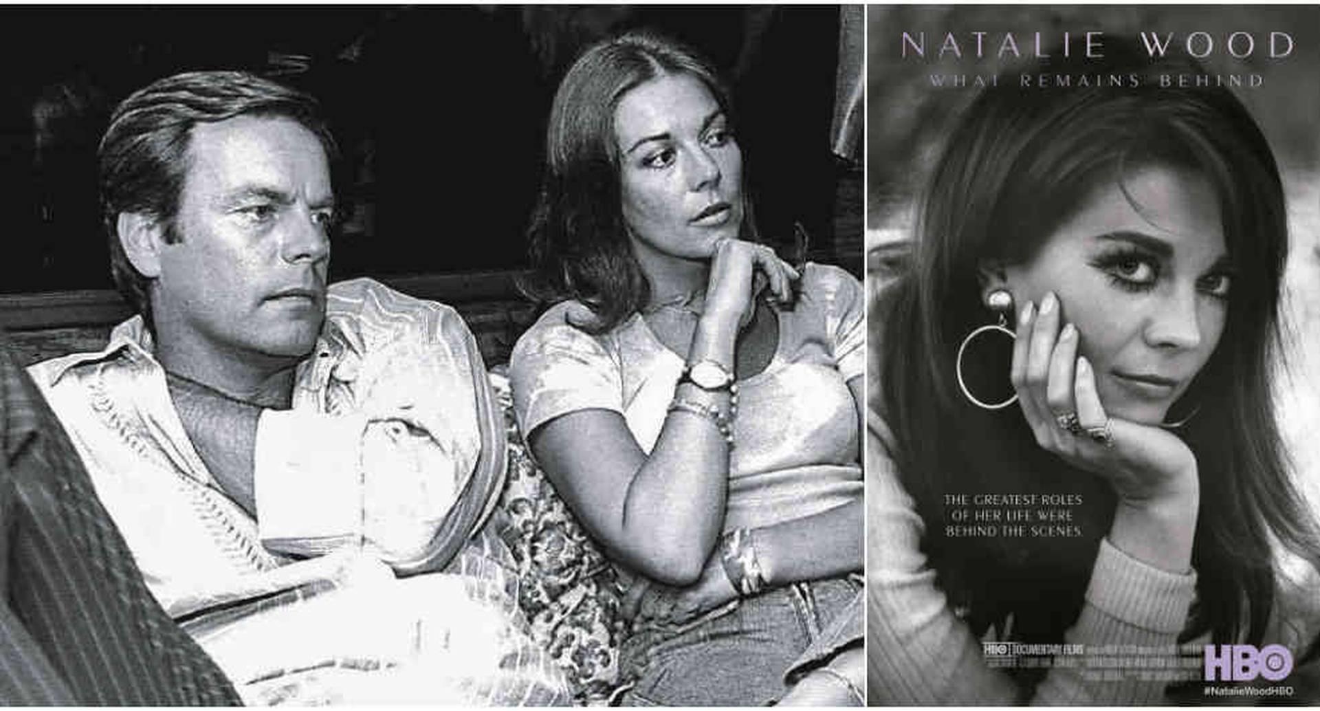 Robert Wagner y Natalie Wood sentados en el yate en el que ocurrieron los hechos que terminaron con la muerte de la actriz.