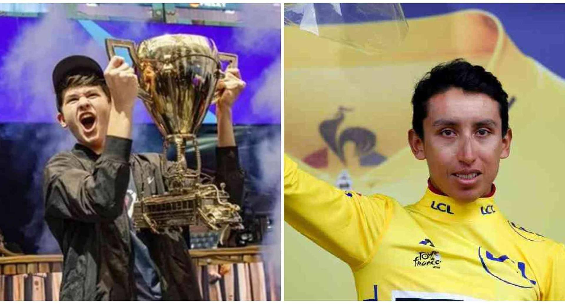 Ganador de videojuego Fortnite y Egan Bernal ganador del Tour de Francia 2019