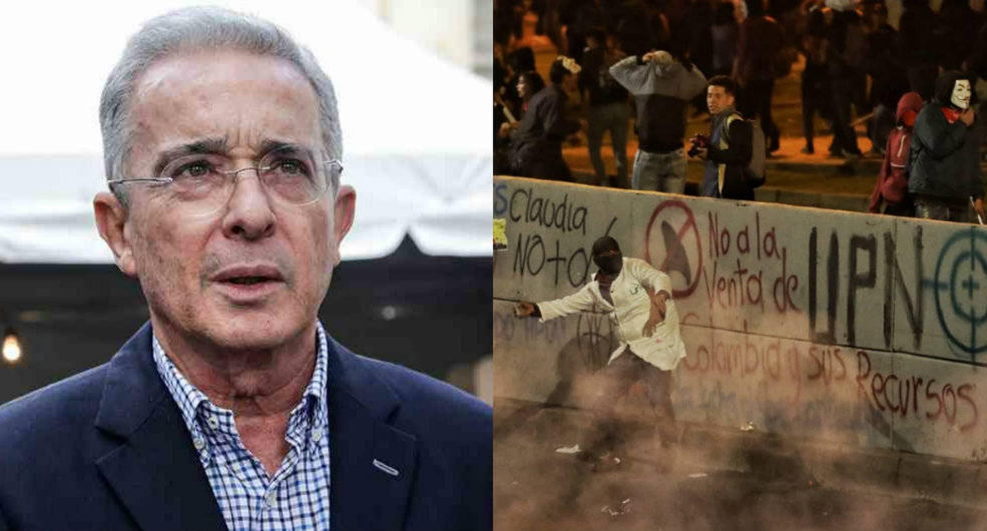 """""""Nosotros hemos dicho que la universidad tiene que ser masiva, científica, crítica, pero no violenta"""", Álvaro Uribe Vélez."""