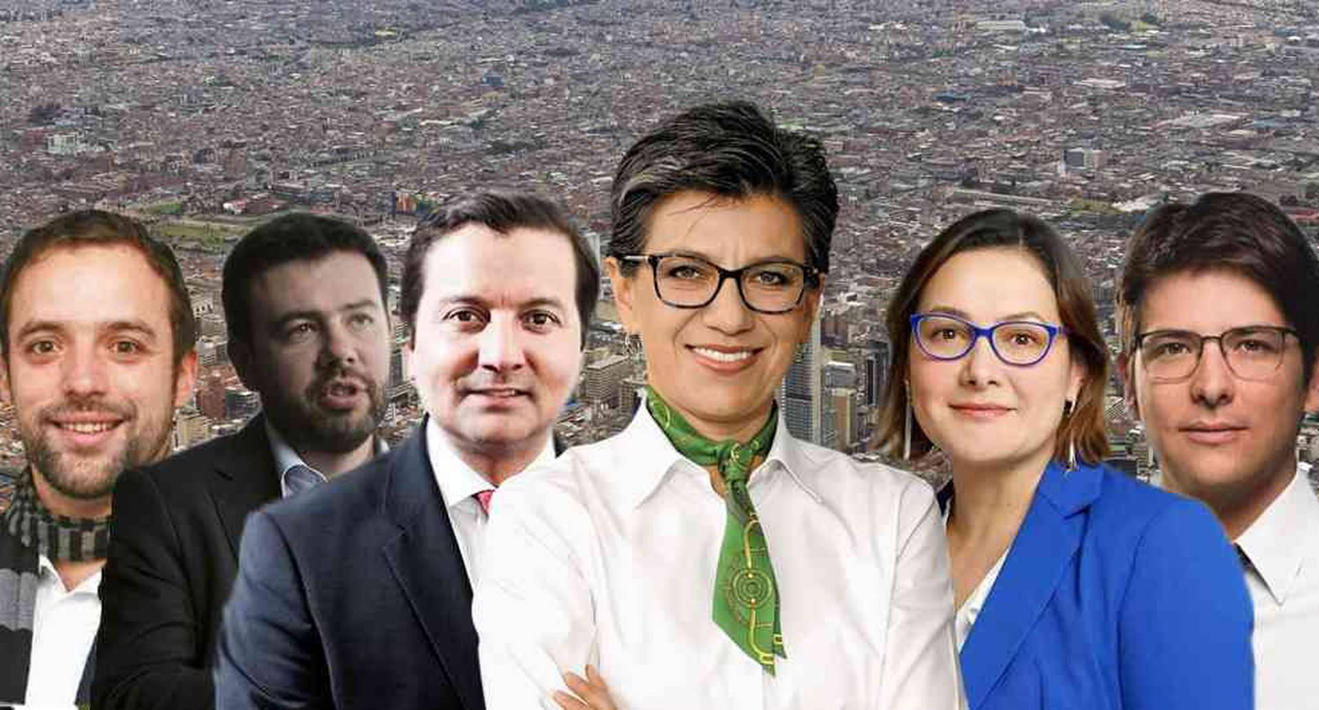 Los candidatos a la Alcaldía de Bogotá.