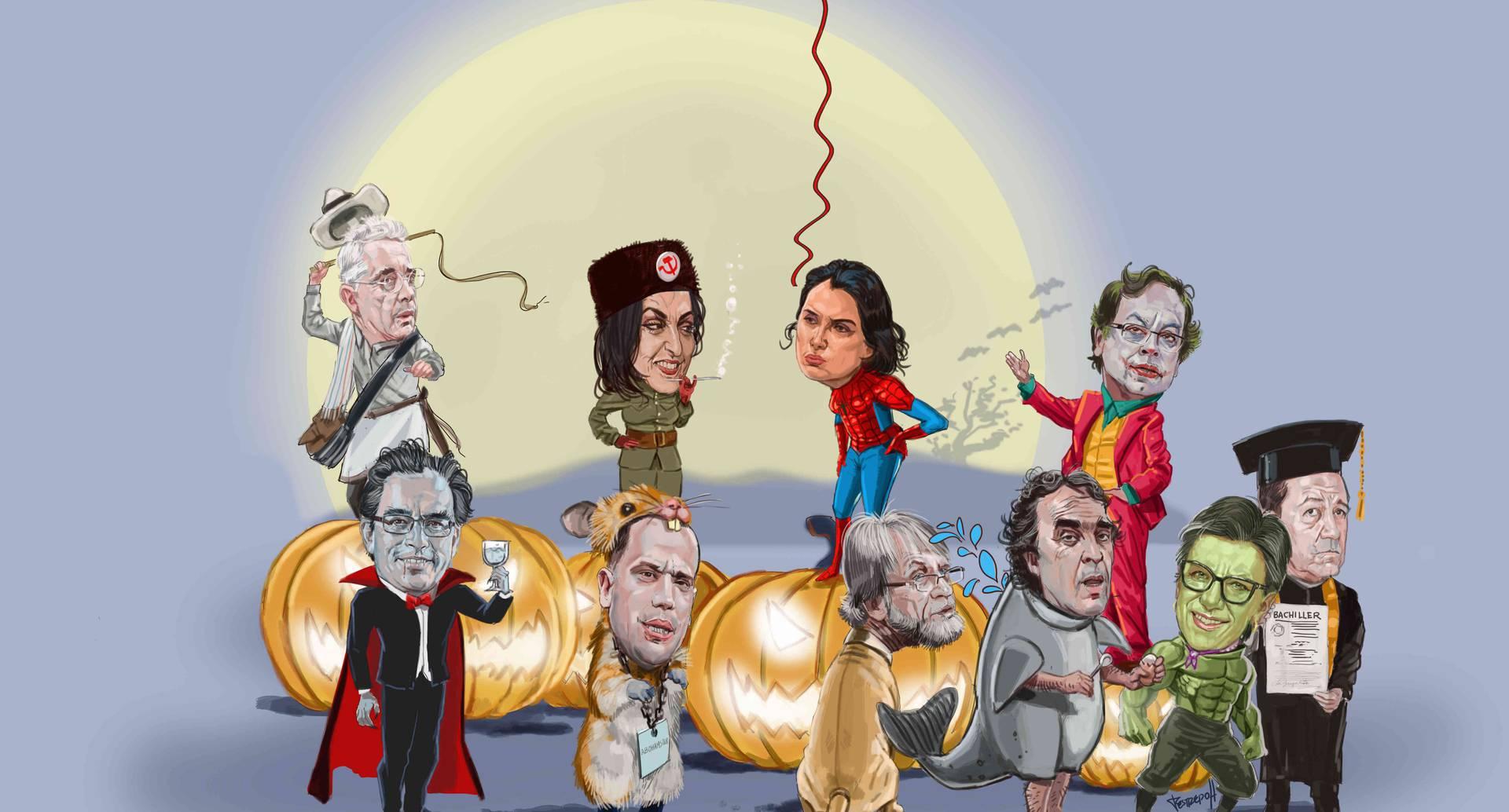Este 31 de octubre, los políticos del país abandonan la ultratumba para salir a asustar a los colombianos. Con caricaturas de Jorge Restrepo.
