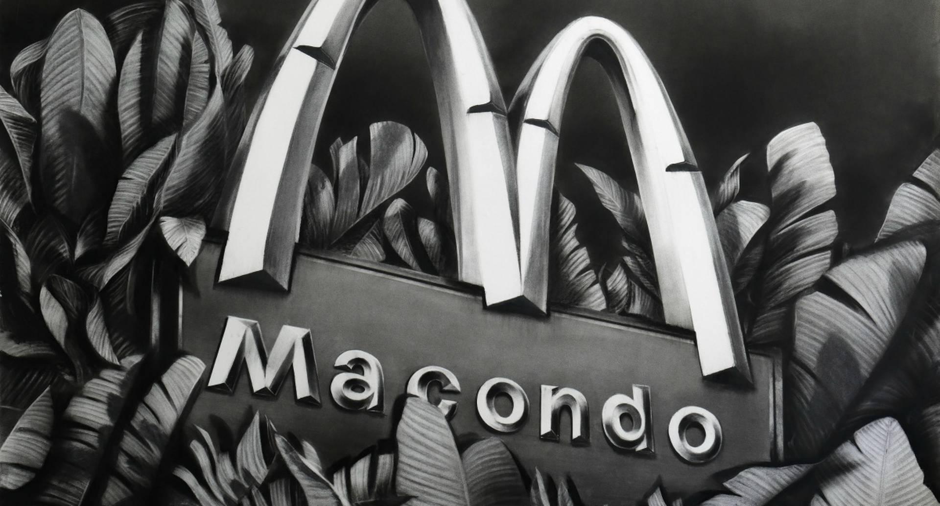 'Macondo' (2020), Gonzalo Fuenmayor. Magno carboncillo sobre papel. 152.4 x 177.8 cm.