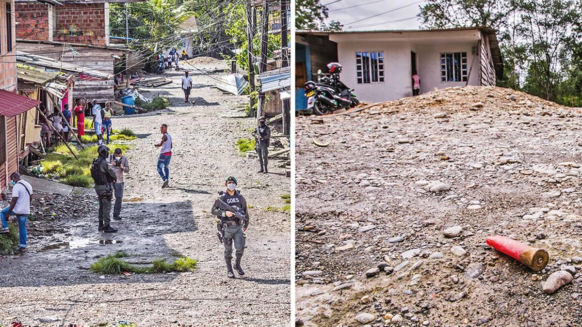 Los casquillos de bala en el piso son la síntesis de las angustias que viven los habitantes de algunos de los barrios de Buenaventura.