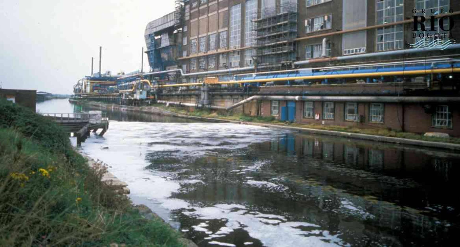 El río Mersey es uno de los más contaminados de ese país.