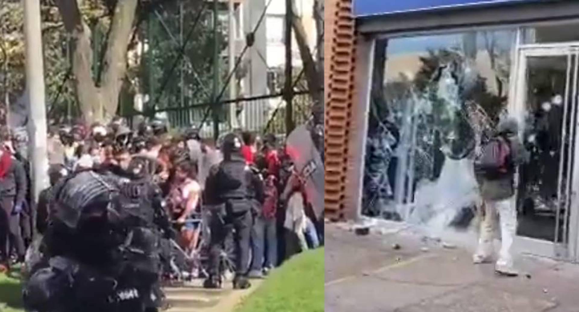 Vandalismo y enfrentamientos con el Esmad, lo que dejó la jornada de protestas en Bogotá.