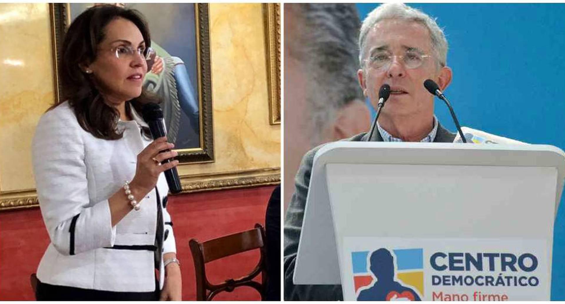 Viviane Morales y Álvaro Uribe