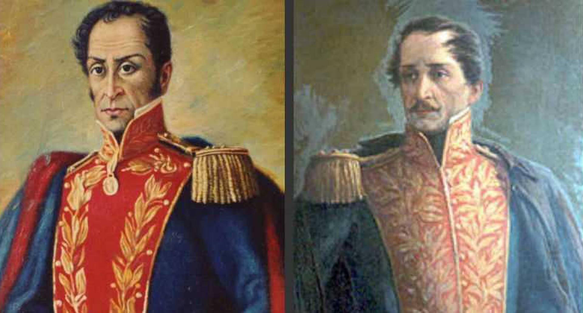 Simón Bolívar - Francisco de Paula Santander.