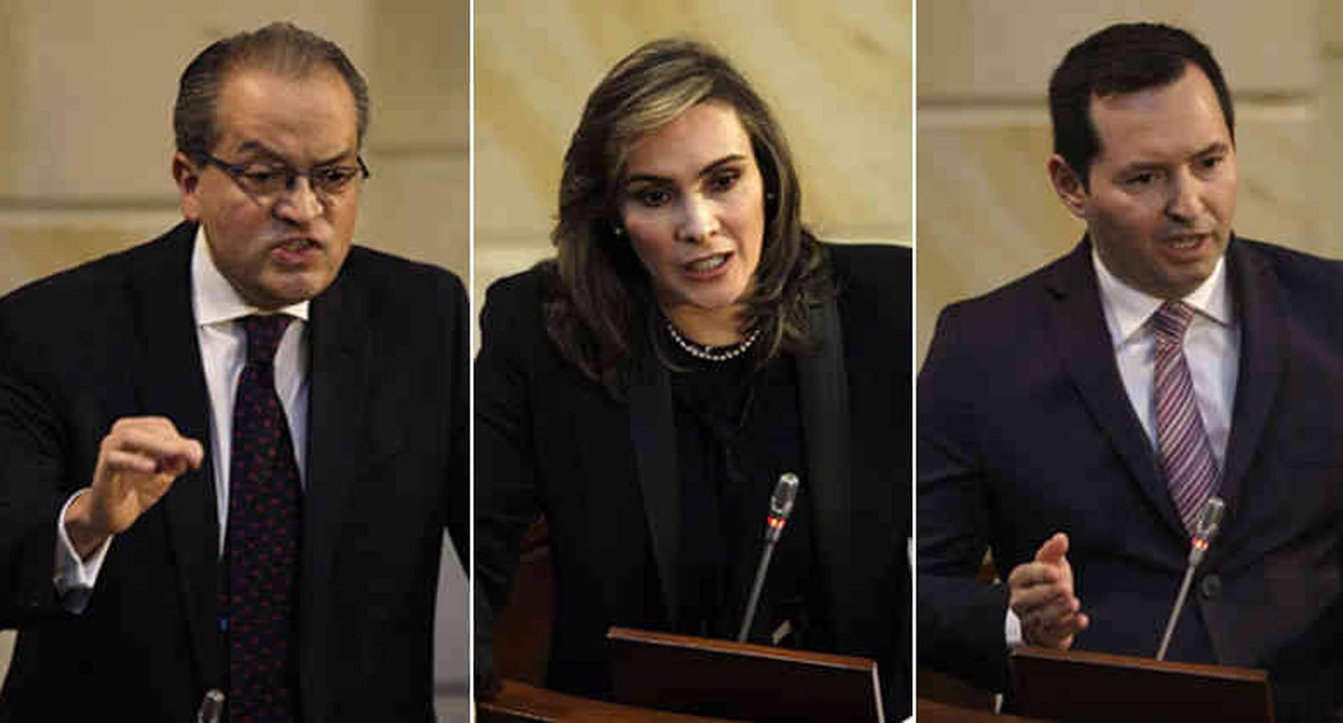 Fernando Carrillo, María Mercedes López y Jorge Fernando Perdomo.