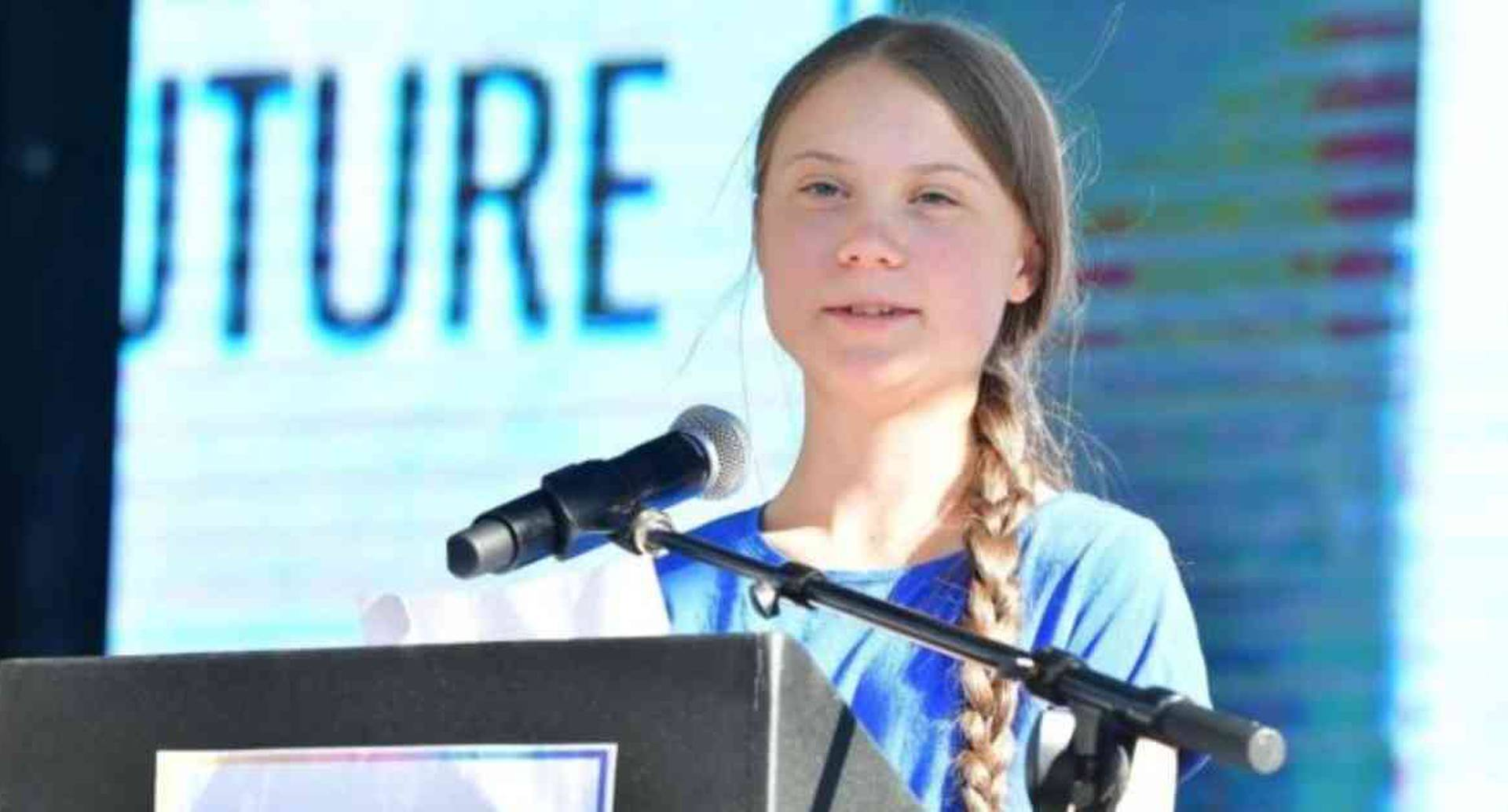 La vida de Greta Thunberg se mostrará a través de la pantalla grande. Foto: AFP