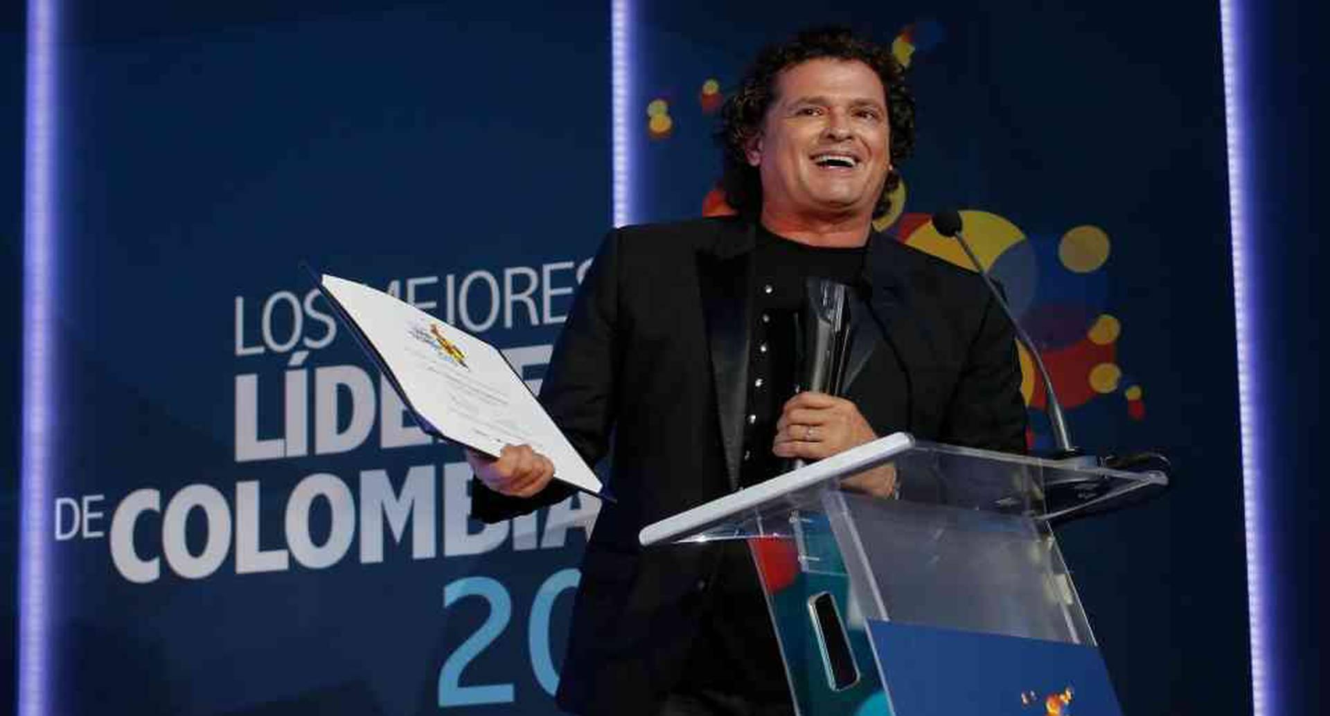 Carlos Vives fue uno de los diez ganadores del premio Los Mejores Líderes de Colombia 2018 que organizó SEMANA y Telefónica. Foto: Daniel Reina/Semana. Foto: Daniel Reina/Semana