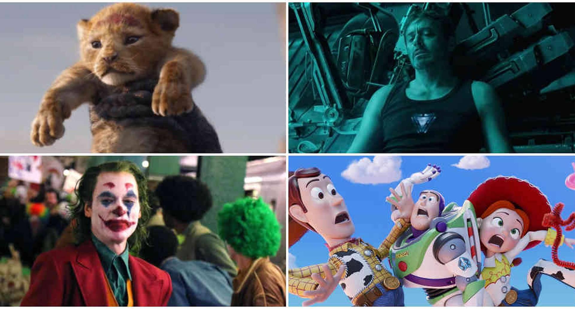 El Rey León, Joker y Toy Story 4 son algunos de los éxitos de la cartelera de 2019.