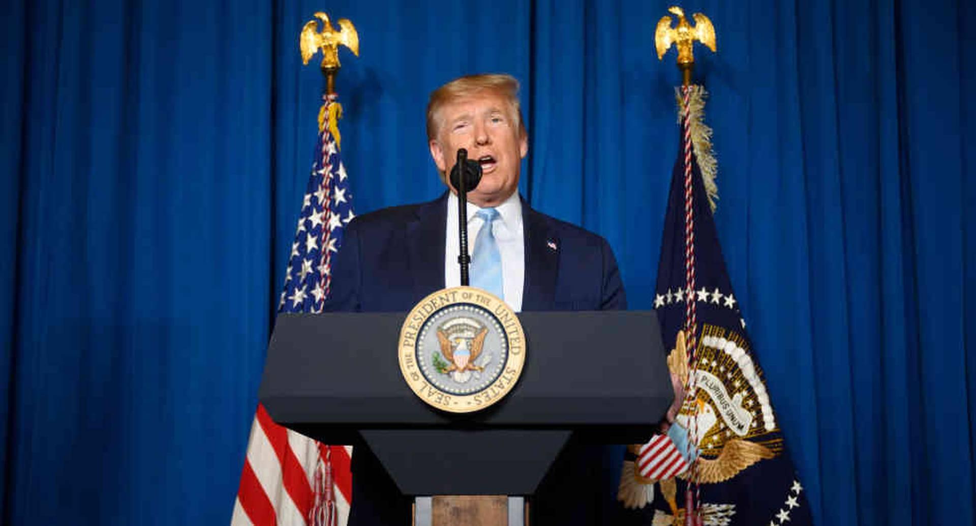 Trump intentó reducir las tensiones con Teherán insistiendo que no buscaba iniciar una guerra.
