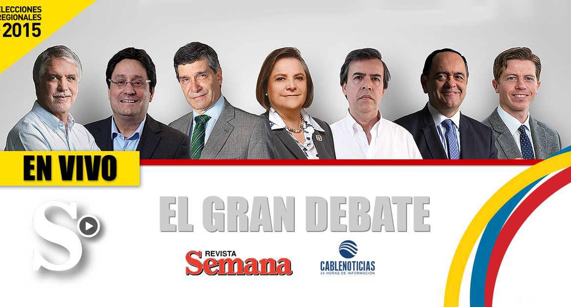 Candidatos a la Alcaldía de Bogotá en Semana en vivo