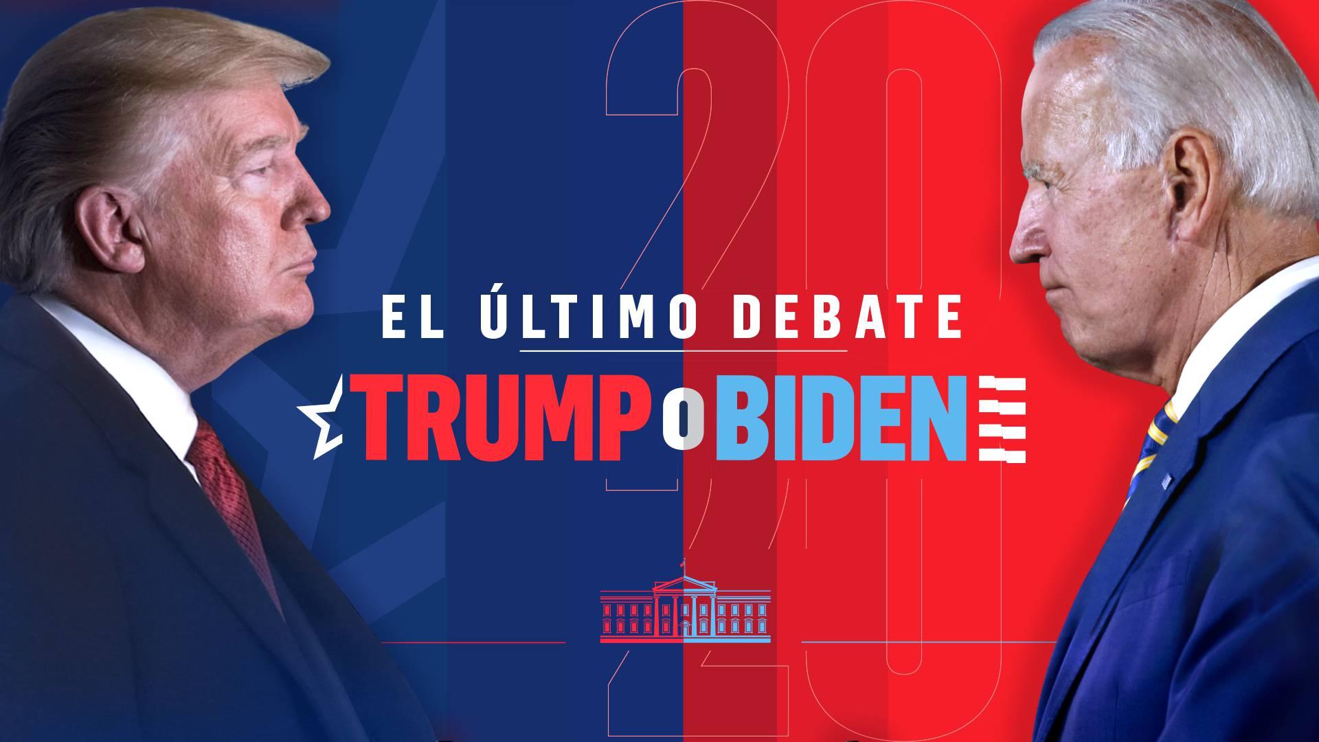 último debate de Trump y Biden
