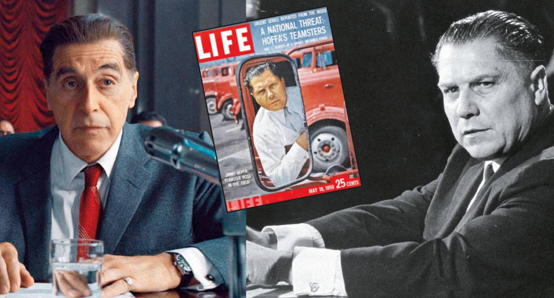 Hoffa, interpretado en la película por Al Pacino, dirigió el sindicato de camioneros y fue una figura importante en la política norteamericana de mediados del siglo XX.