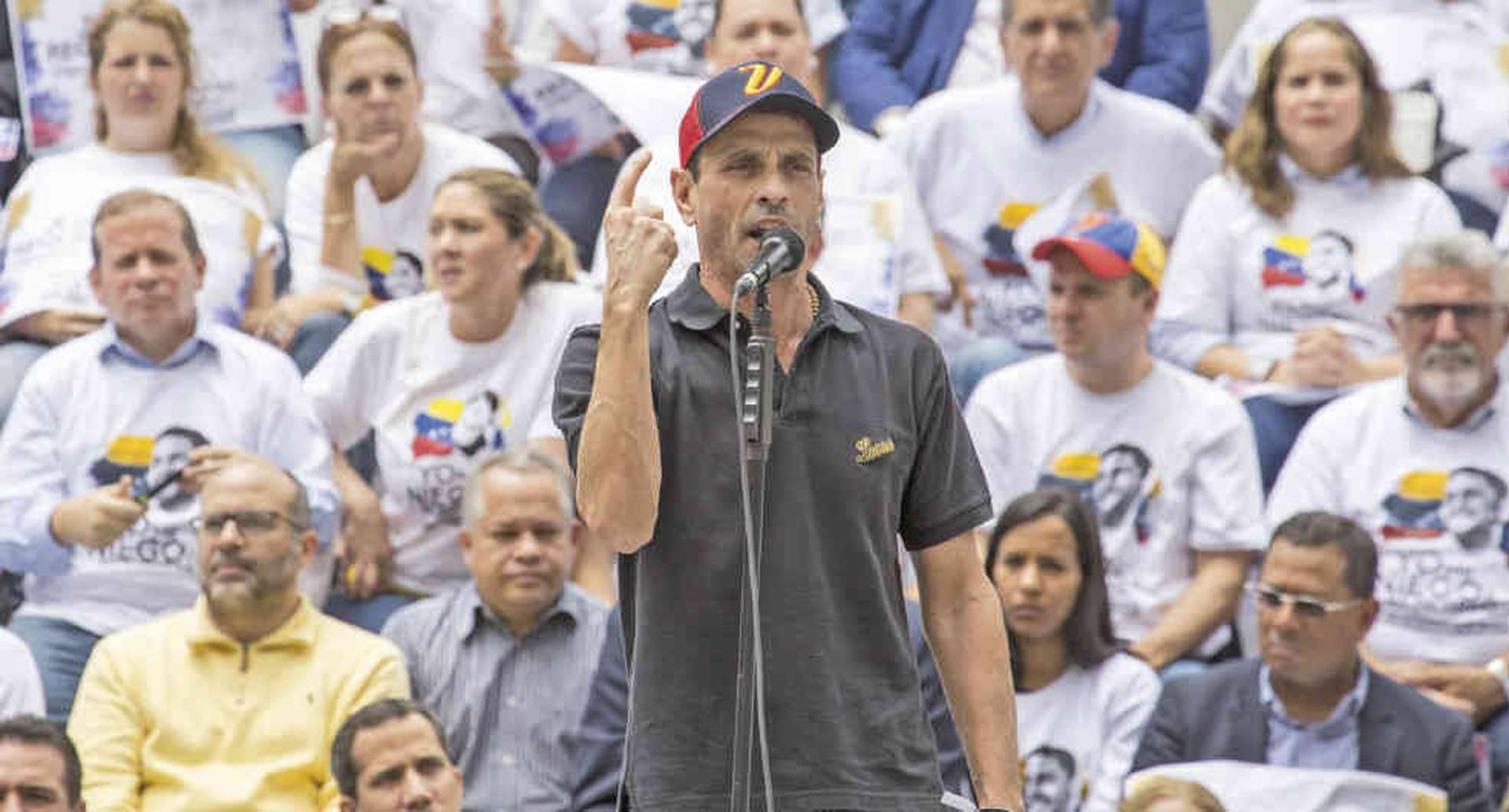 Henrique Capriles lidera el partido Primero Justicia y es una de las personalidades más visibles de la oposición.