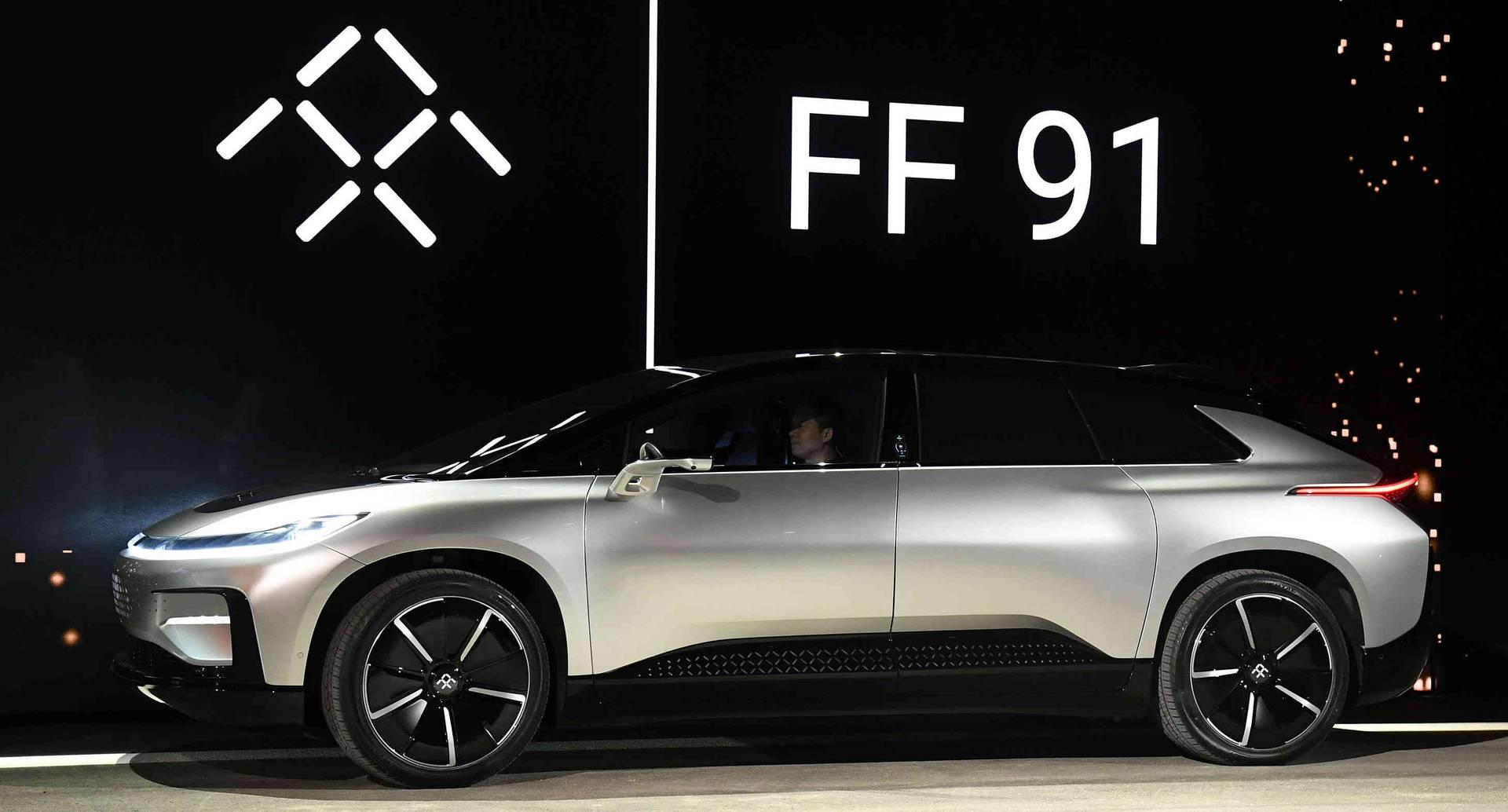 El FF91 es un auto autónomo que promete hacerle competencia al Tesla. Foto de AFP