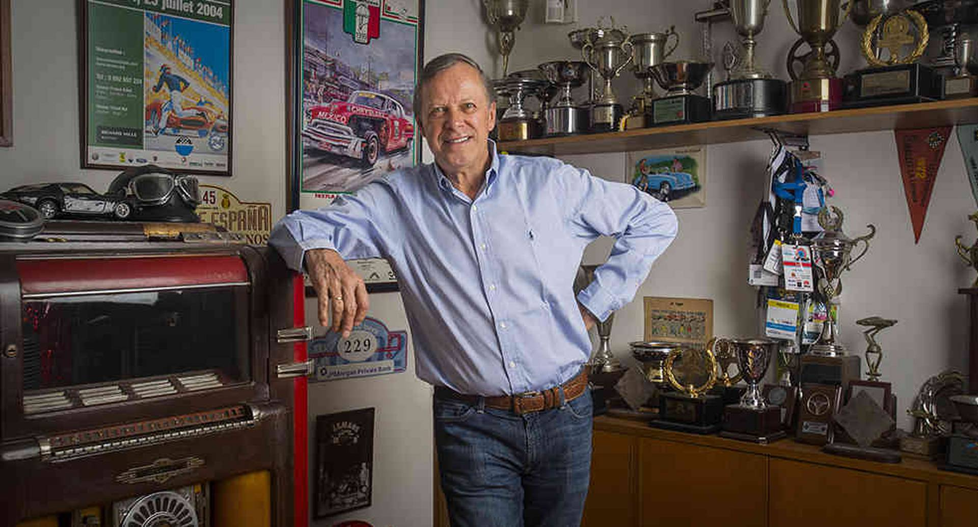 Aparte de ser empresario y coleccionista, Jorge fue un condecorado piloto de carreras hasta que su cuerpo le dijo que no lo hiciera más.