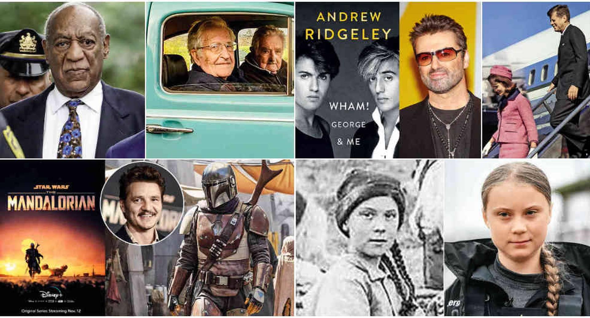 Bill Cosby, Noam Chomsky, Pepe Mujica, George Michael, Jackie Kennedy, Pedro Pascal (The Mandalorian) y Greta Thunberg fueron los protagonistas de la semana
