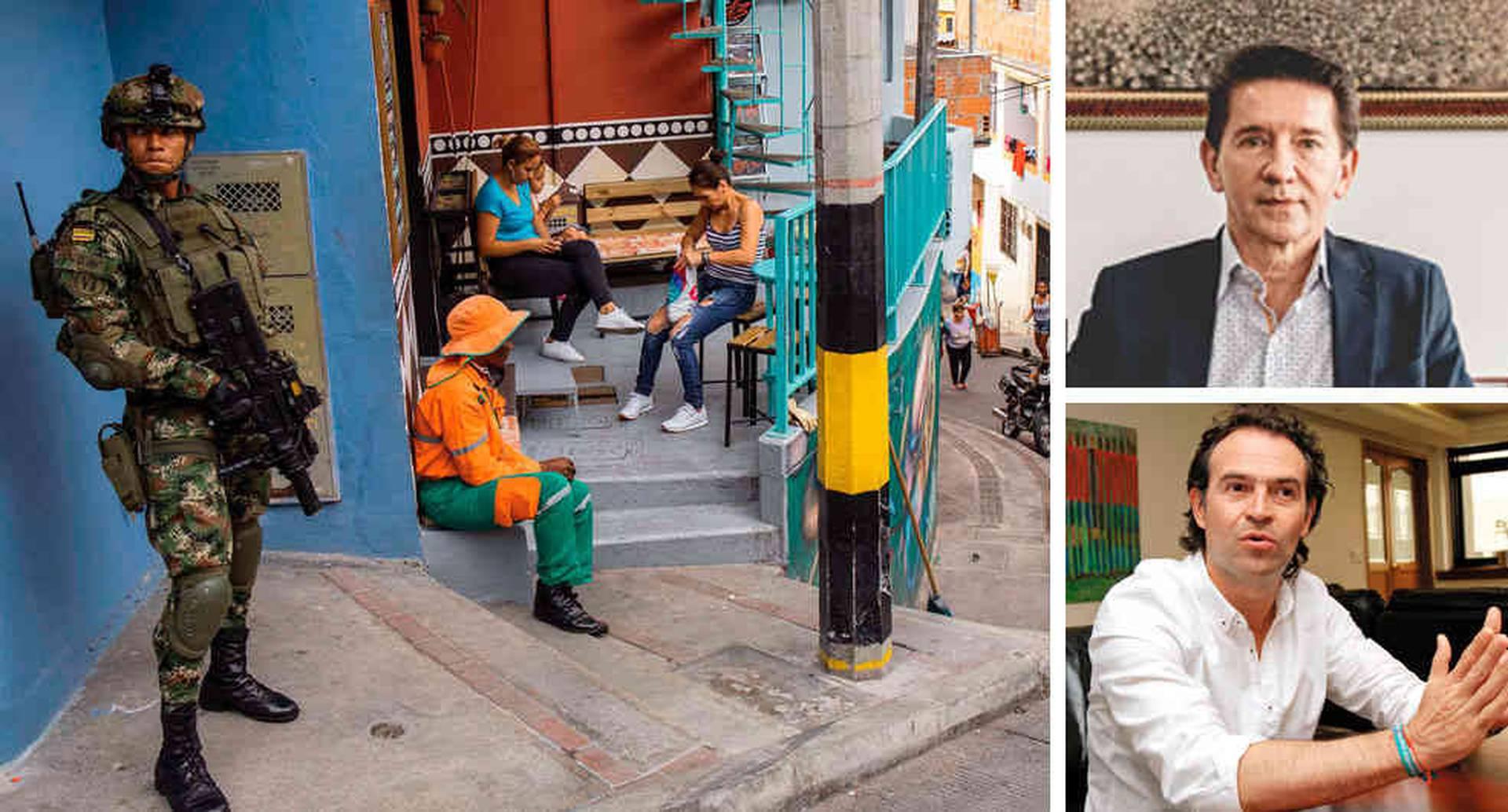 El gobernador de Antioquia, Luis Pérez, denunció los problemas de seguridad en ese departamento. El alcalde de Medellín, Federico Gutiérrez, ha dado una lucha frontal contra las bandas.