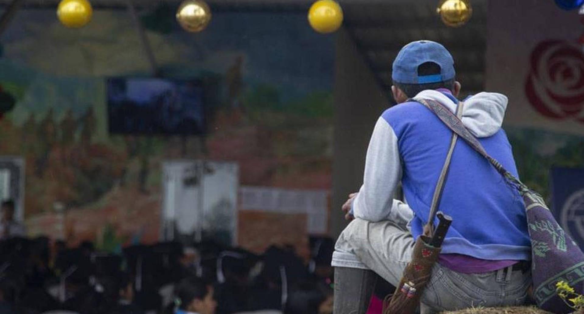 Reincorporados de las Farc en Caldono, Cauca.