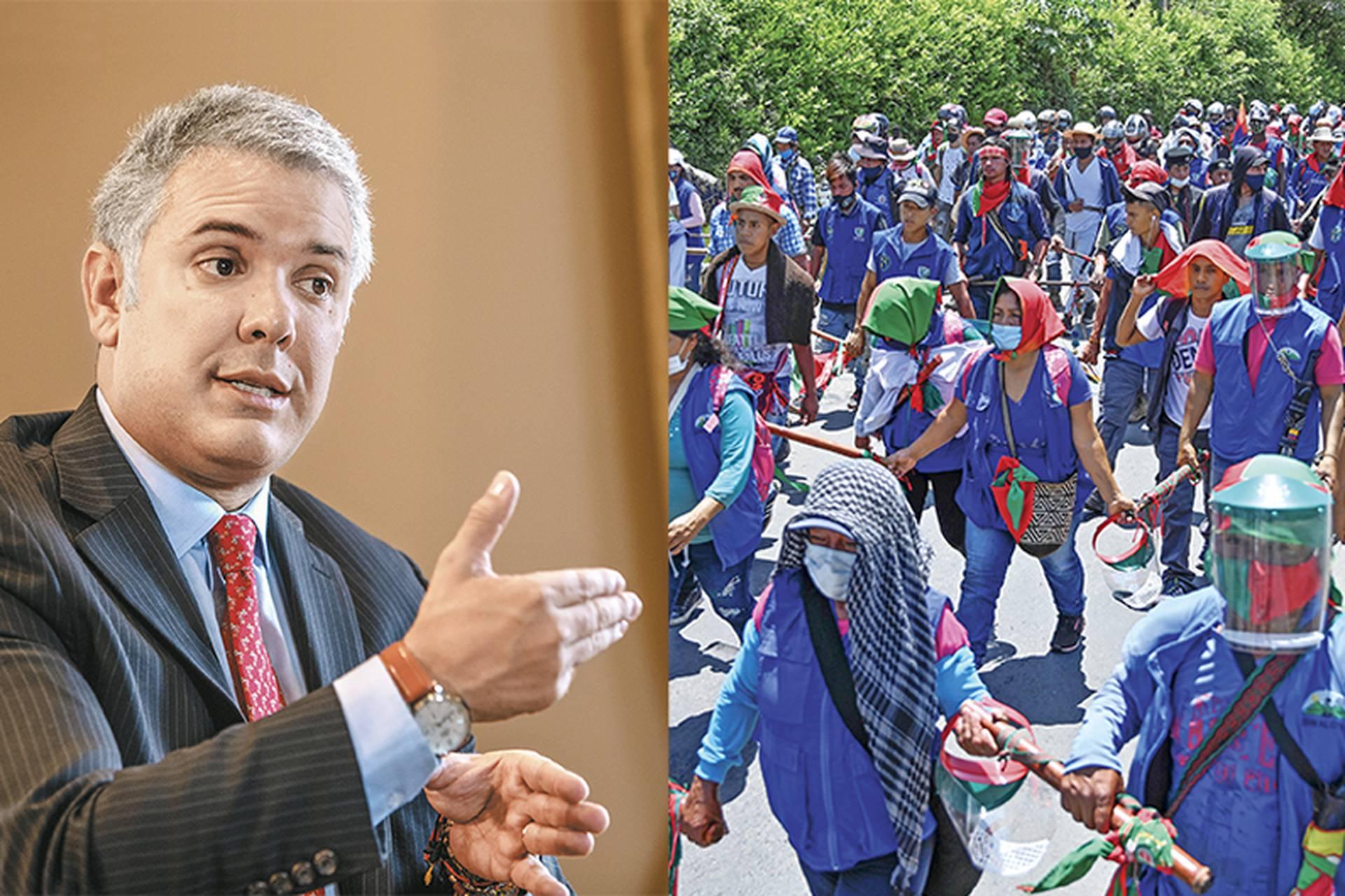 La minga llega a Bogotá con el objetivo de tener un encuentro directo y público con el presidente Duque. Pero como el mandatario no se reunirá en las condiciones que ellos exigen, es necesario buscar una fórmula intermedia.