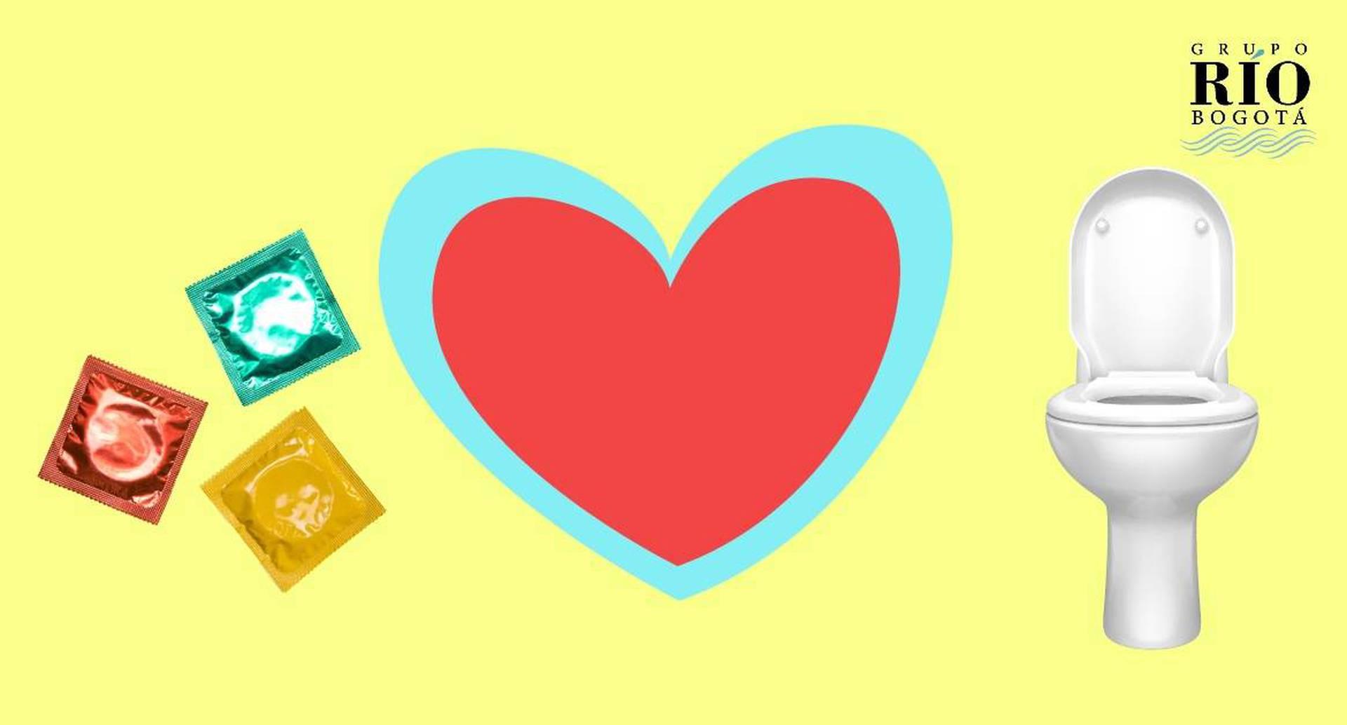 En el día del amor y la amistad no bote condones por el sanitario