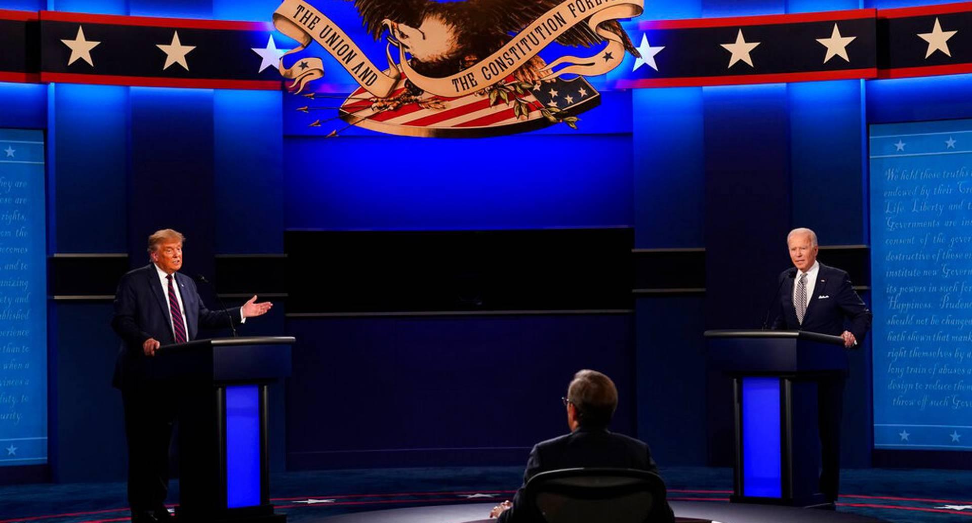 Debate entre Donald Trump y Joe Biden