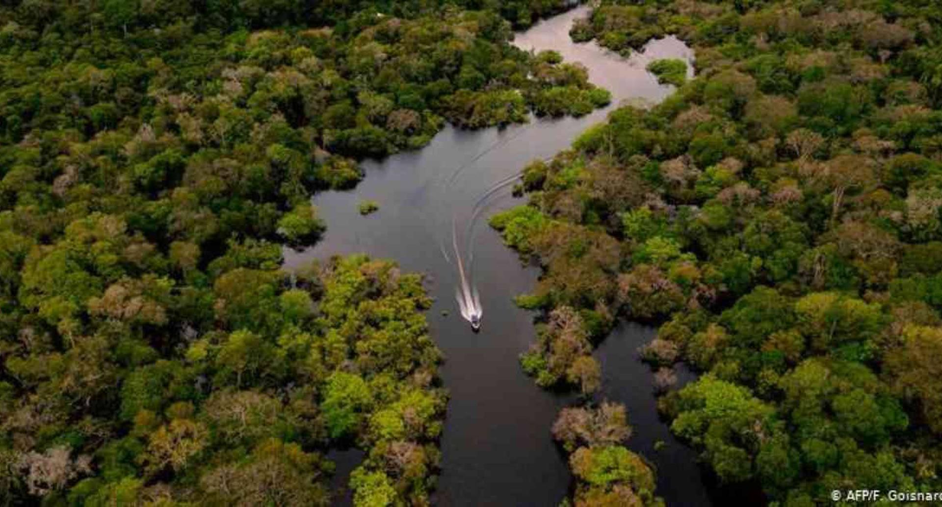 Manaos en Brasil, Iquitos en Perú y Leticia en Colombia, son los puntos que concentran más casos de coronavirus en la Amazonia. Foto: F. Goisnard /AFP vía DW.