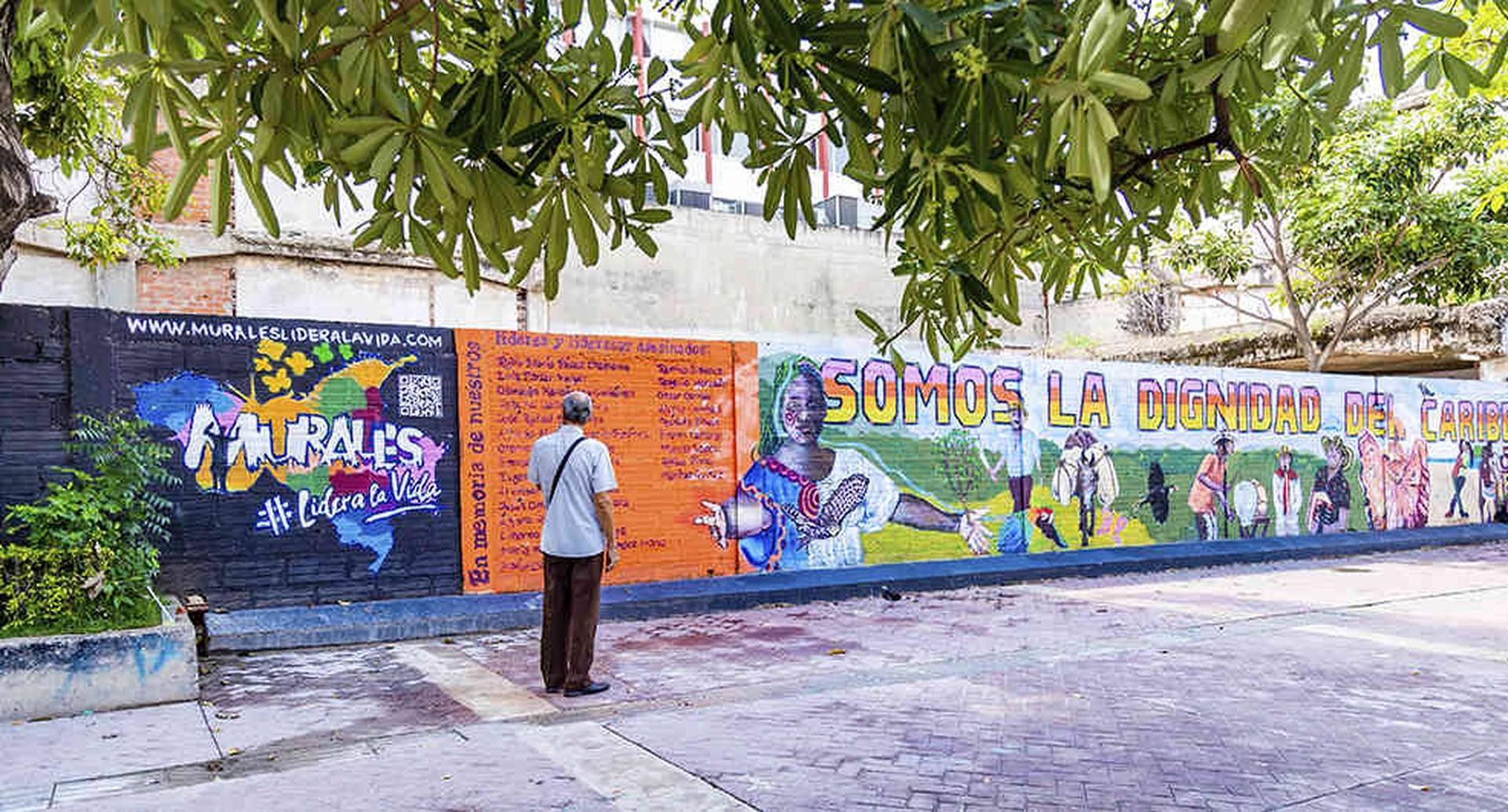 Uno de los murales de la campaña 'Lidera la vida', ubicado en Cartagena, en el sector La Matuna.