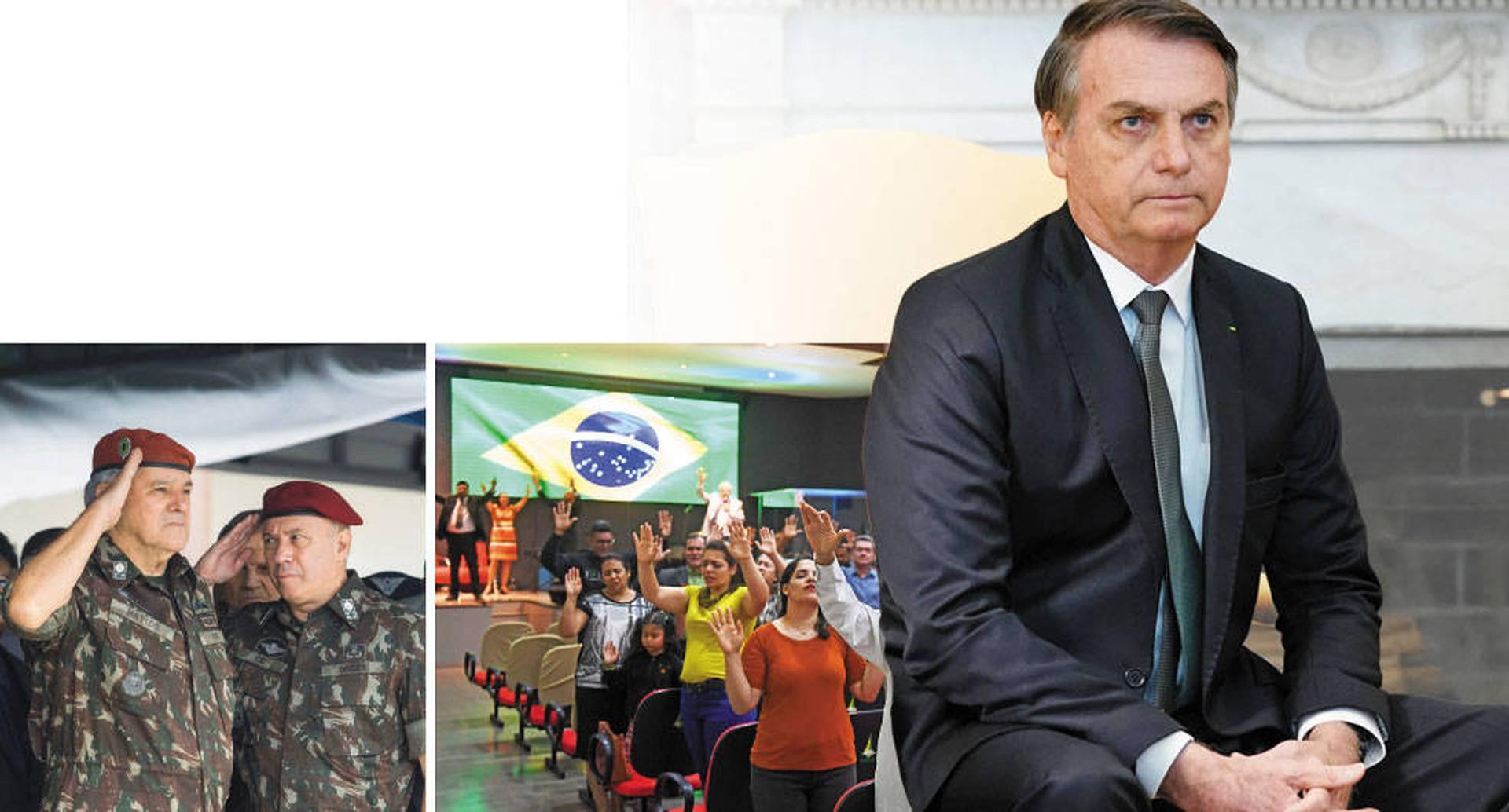A pesar de la poca popularidad de Bolsonaro en la actualidad, las Iglesias evangélicas y las Fuerzas Armadas siguen siendo un gran motor de su gobierno. Ambas fueron fundamentales en campaña.