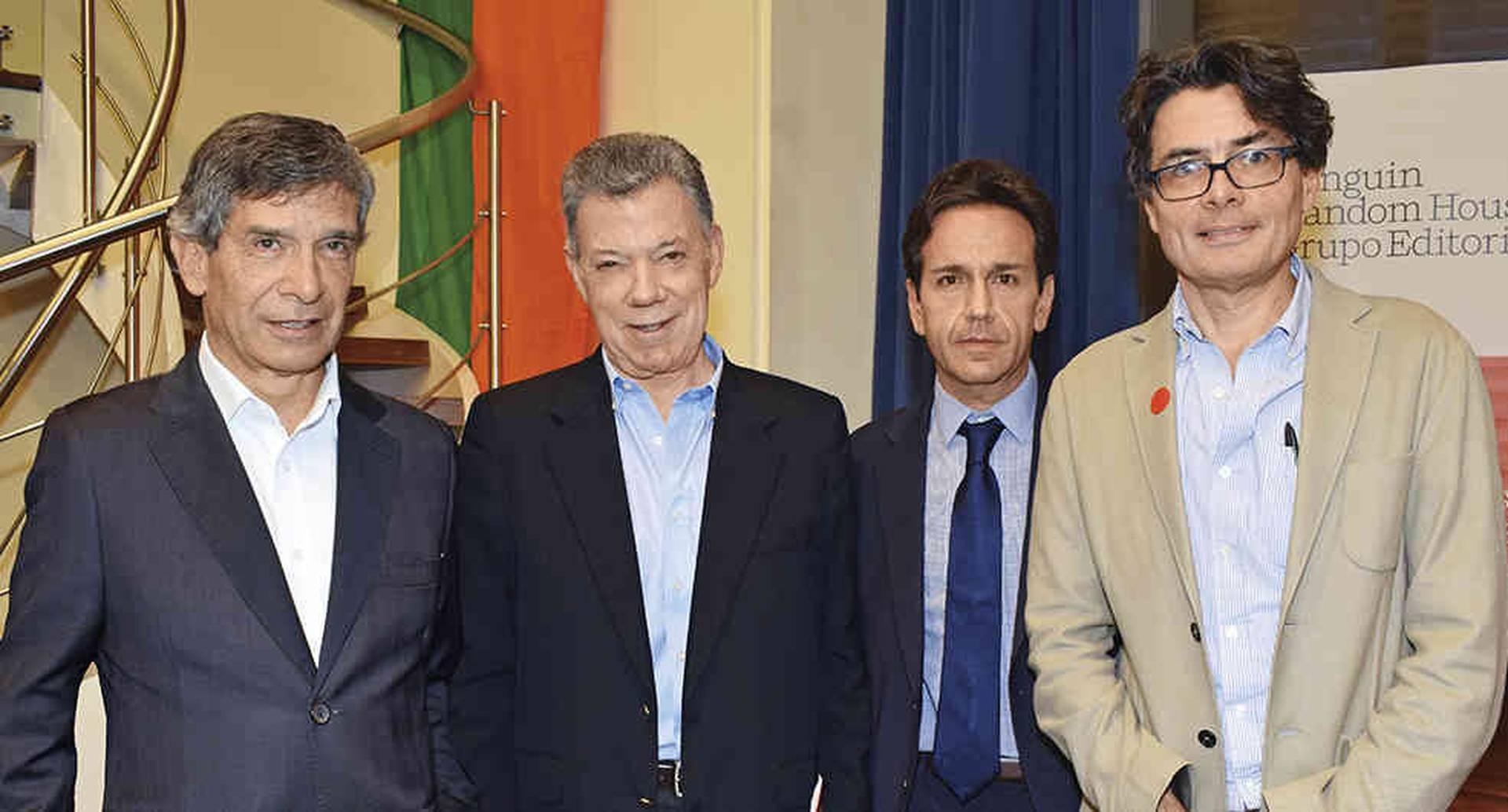 Rafael Pardo, Juan Manuel Santos, Daniel Mejía y Alejandro Gaviria.