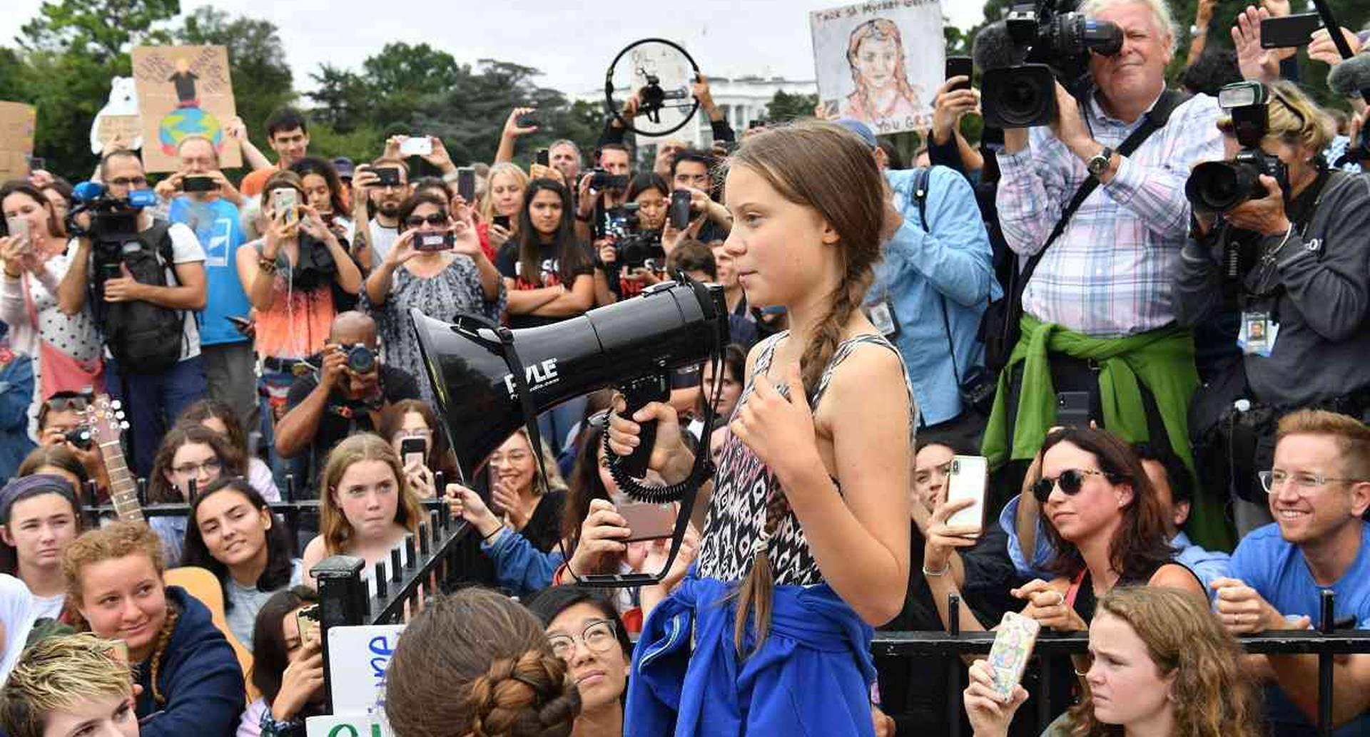 Greta Thunberg, la joven sueca que ha motivado que millones de estudiantes se movilicen en el mundo contra el cambio climático. Foto: AFP