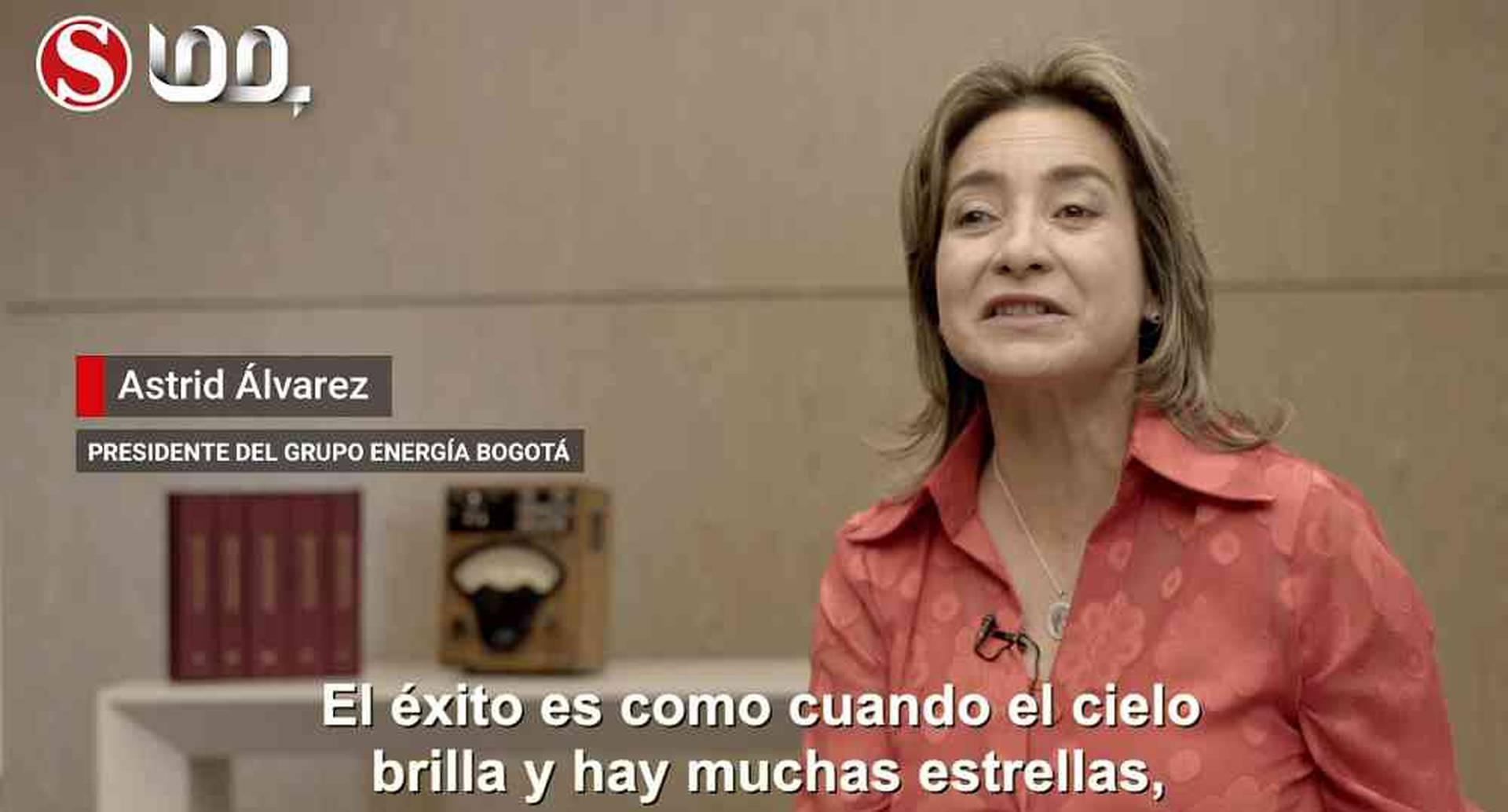 Astrid Álvarez, presidenta del Grupo Energía de Bogotá.