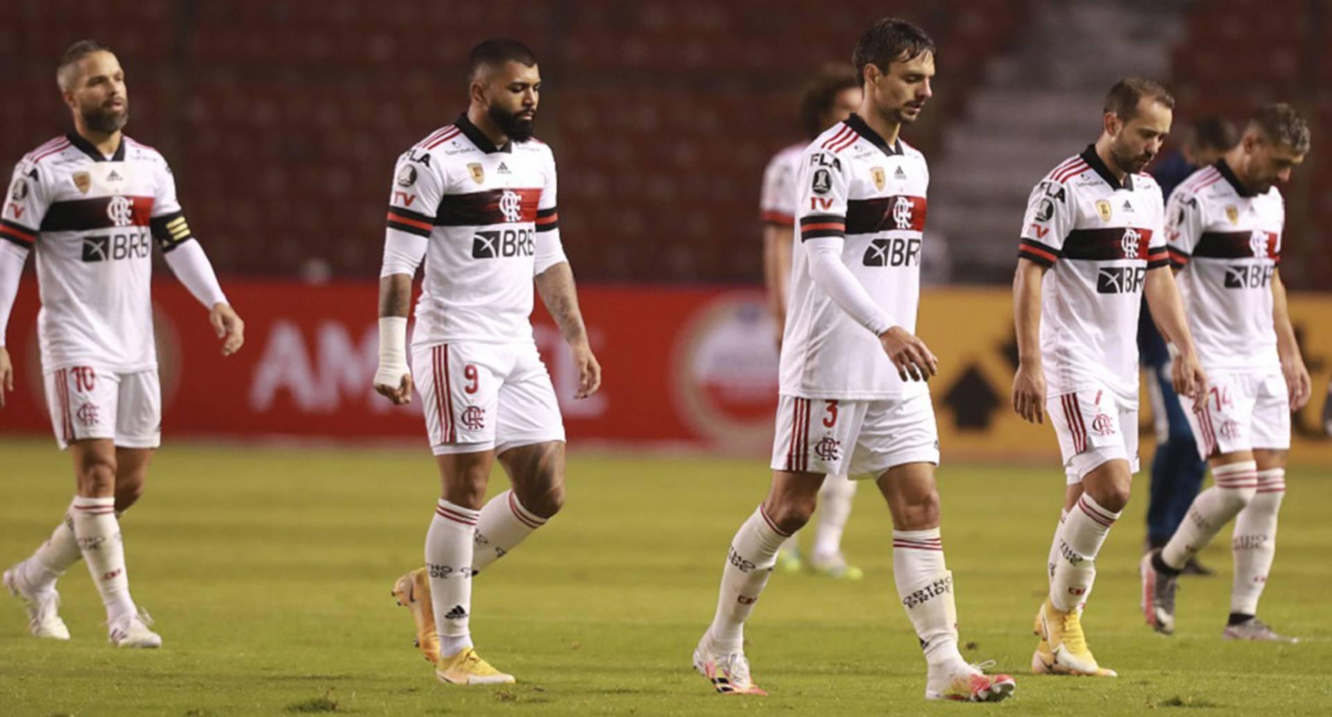 Jugadores del Flamengo (José Jácome/Pool vía AP)