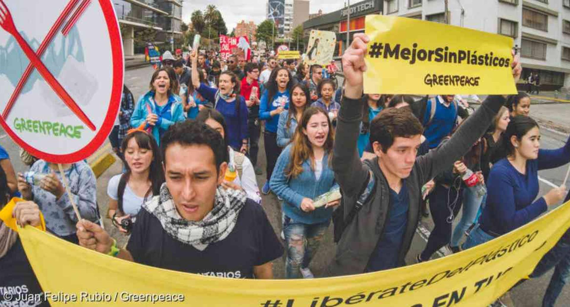 La organización Greenpeace anunció su respaldo a la jornada nacional de paro convocada para este miércoles. Foto: Juan Felipe Rubio/Greenpeace