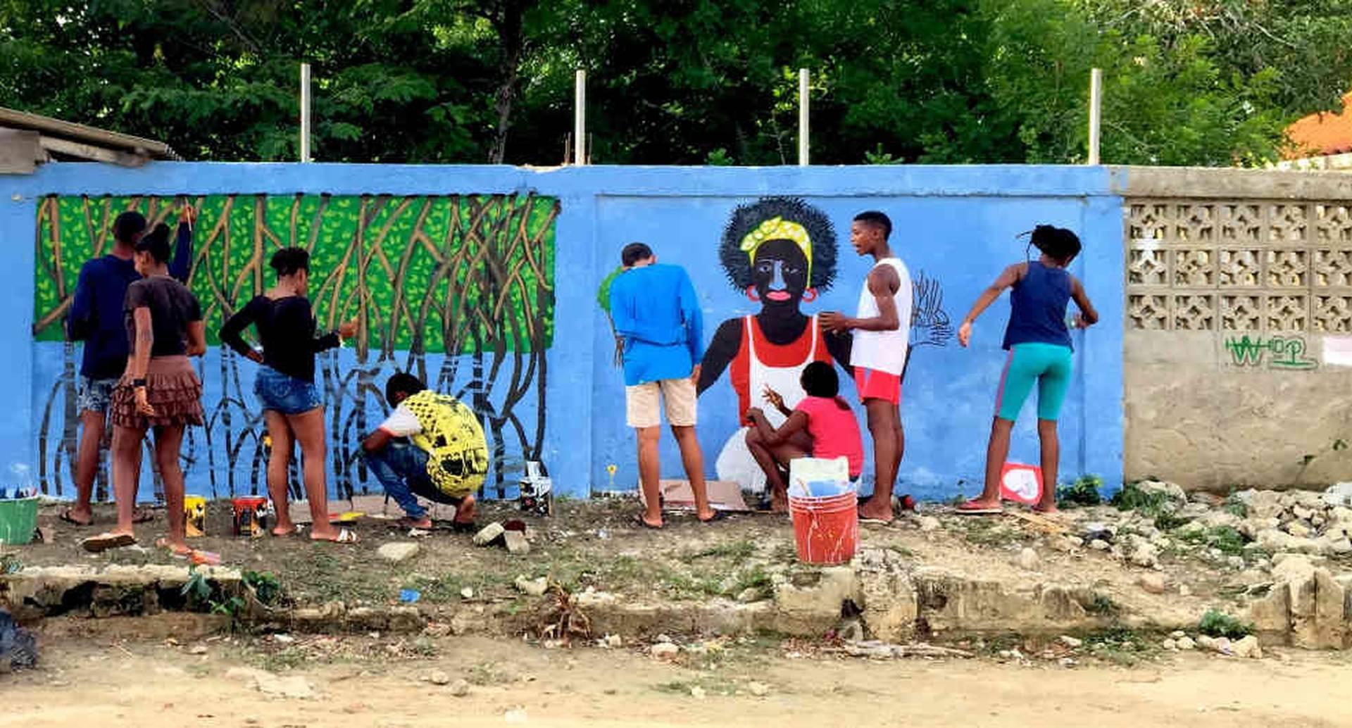 La campaña de preservación del manglar incluye muestras artísticas y culturales de los baruleros más jóvenes. Por: Mariana Sanz