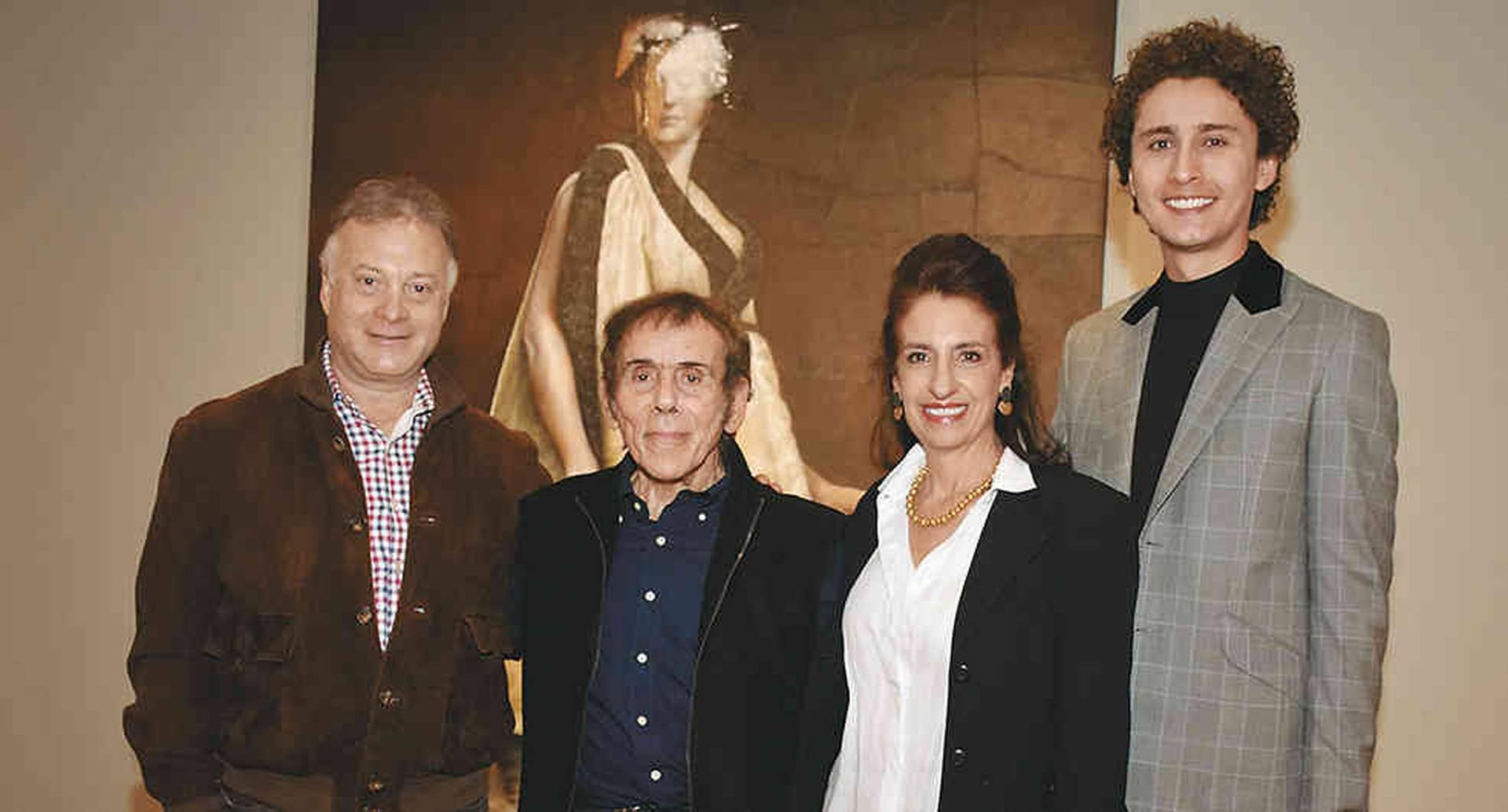 Felipe Grimberg, David Manzur, Claudia Hakim y Felipe Achury.