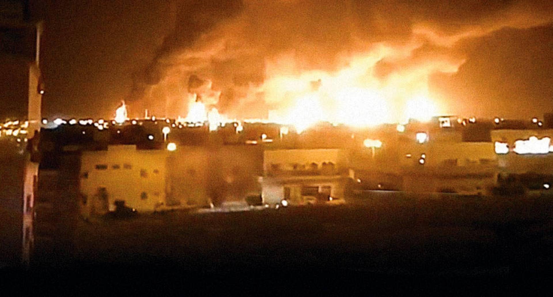 Un video mostró el incendio que causó la explosión en una de las refinerías más grandes del mundo.