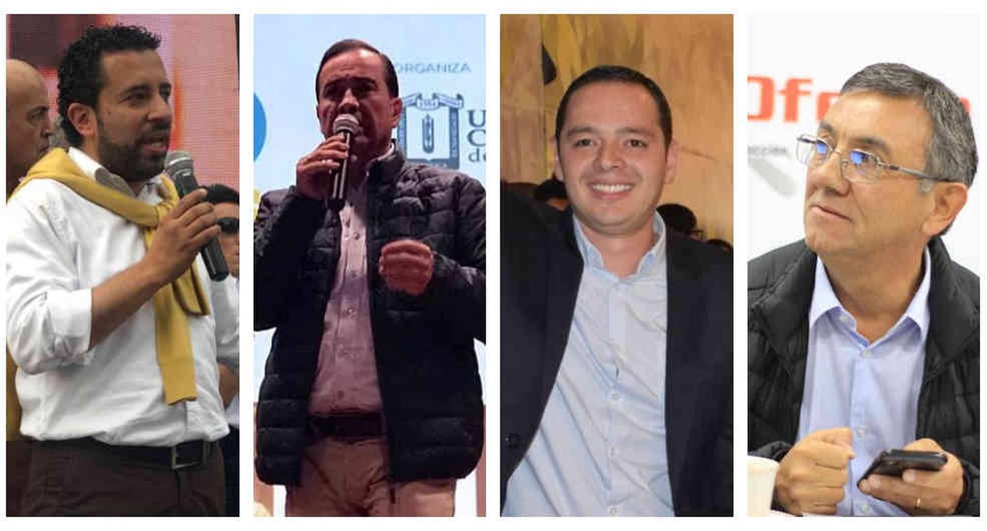 Estos son los cuatro candidatos a la Alcaldía de Manizales.