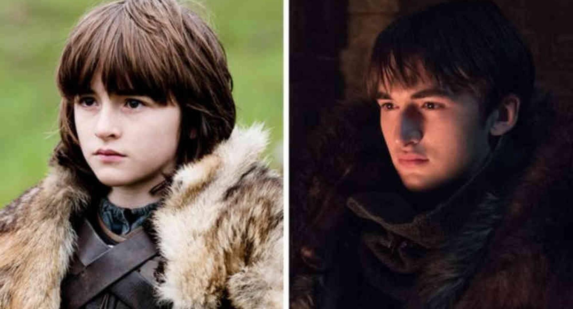 El paso del tiempo se vio en el personaje de Bran Stark, desde la primera hasta la octava temporada de Juego de Tronos.